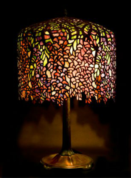 stained glass lamp wisteria