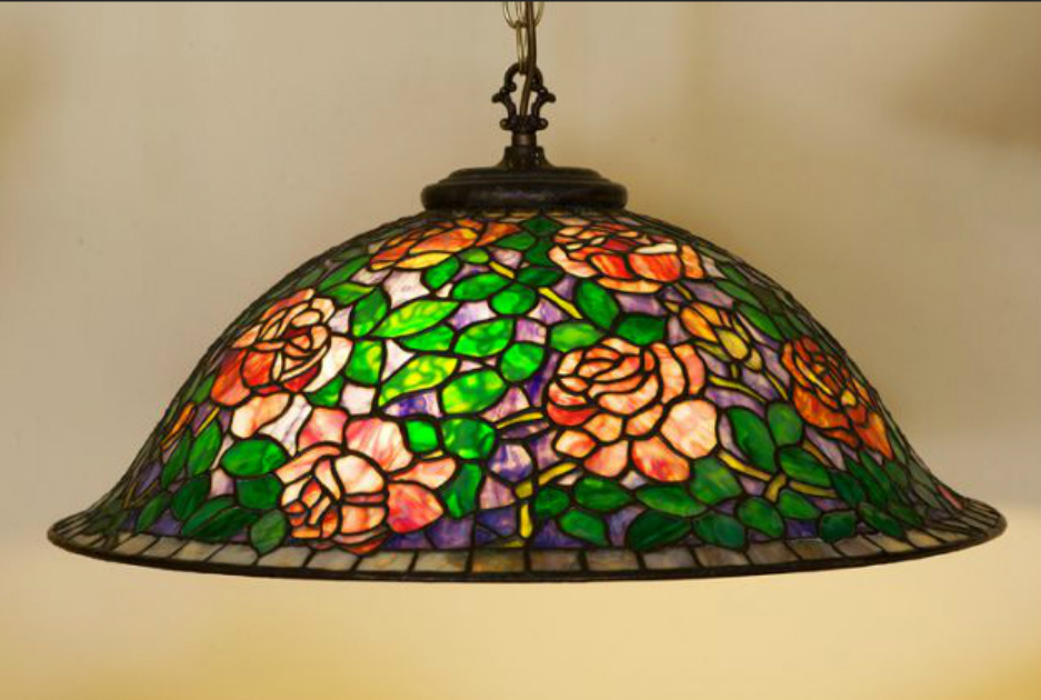 stained glass ceiling shade. Black Bedroom Furniture Sets. Home Design Ideas